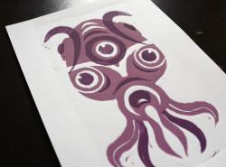 Linogravure : Octopus
