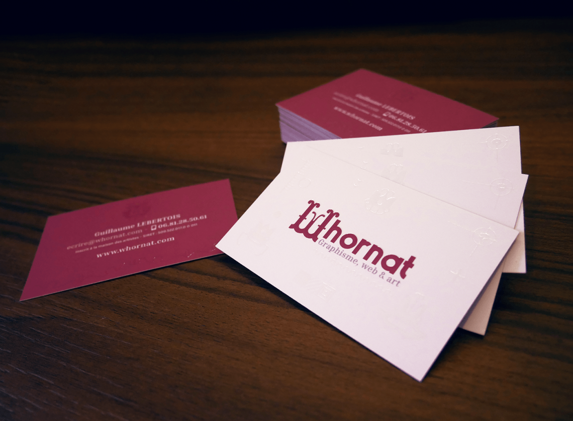 Cartes De Visite Whornat Design