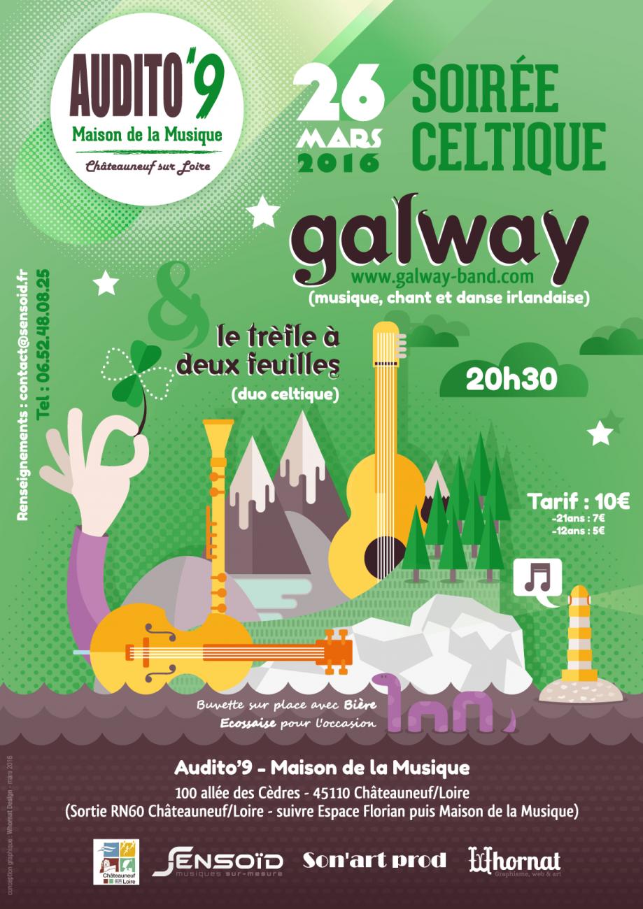 Affiche concert - Galway