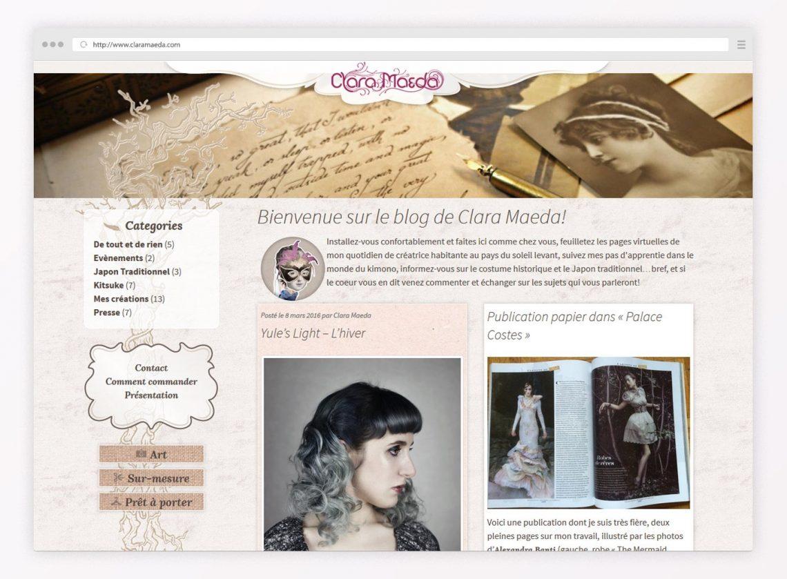 Site web de Clara Maeda