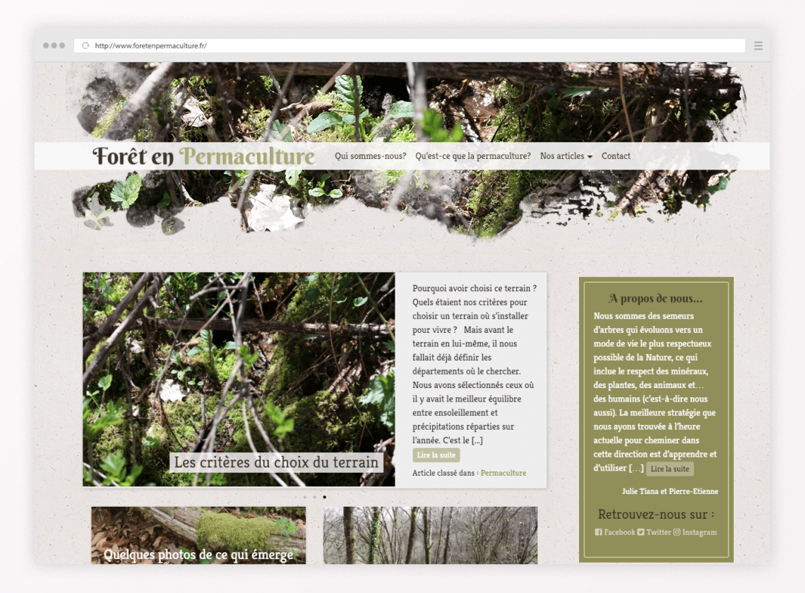 Forêt en Permaculture