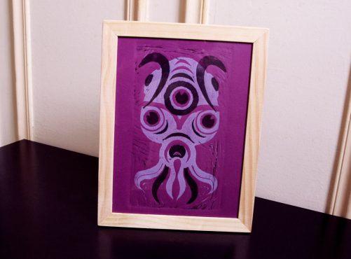 Linogravure en deux couleurs