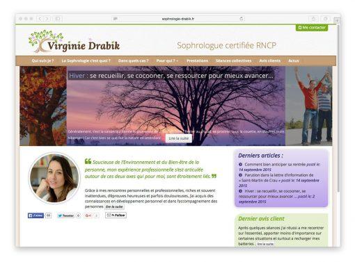 Site web de Virginie Drabik (accueil)